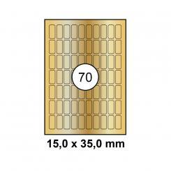 MAYSPIES® Premium Color Laser Gold Etiketten